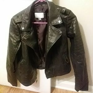 Faux leather jacket. Never worn!